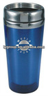 bpa free blue 450ml stainless steel travel mug