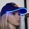Flash black led cap