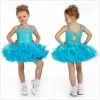 2012 Cute Lovely Spaghetti Straps Beads Working Bodice Mini Baby Clothes