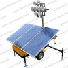 Green power Mobile Solar lighting tower
