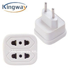 US USA to EU EURO AC Power Travel Charger Plug Adapter Converter