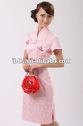 2013 ladies latest fashion slim pink cheongsam