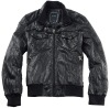 washed pu jacket for men