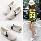 2011 Korean version of the new comfort level with the round bare-color canvas Casual shoes