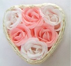 romantic rose soap flower for wedding gift