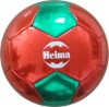 promotional socer ball size 5 high shiny metallic material by heima factory with BSCI cetificate