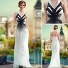 DORISQUEEN Latest Design One Shoulder Black And White Dresses
