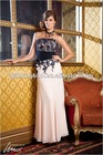 2012 popular gold lace strapless mother dress whole sale and retail