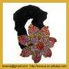Rhinestone crystal flower hair barrette clip