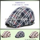 new design newsboy beret check fashion cap and hat ccap-0260