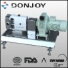 Rotary lobe pump with gearbox