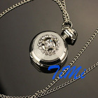 NEW ARRIVAL CRYSTAL ANALOG POCKET WATCH NECKLACE 56 US