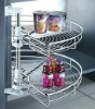 Stainless Steel 180 Degree Revolving Kitchen Wire Shelf