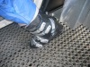 black poriferous rubber mat