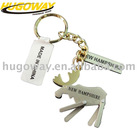 2012 name tag with cutom logo metal key chain