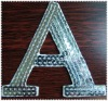 letter sequin embroidered patches and badges