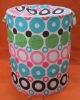 round dot design foldable laundry basket