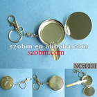Metal Portable Key chain Ashtray secret stash pill box
