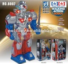 plastic walking B/O robot warrior toy with voice light