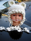 New Designed Crochet Hat Wholesale Cute Baby Crochet Hat Made with Fancy Yarn (KCC-TM00198)