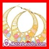 Cheap Bamboo Earrings With ABS Beads