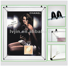 Silver aluminium poster stretcher stretching posters