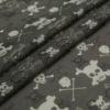 popular skull print cotton silk blends fabric