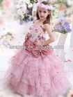 Lovely A Line Spaghetti Strap Floor Length Organza Pink Girls Pageant Dress