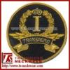 Cap Badge,bullion wire hand embroidery badge