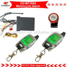 Two Way Remote Start LCD Motorcycle Alarm ,motorcycle security system CD-MT166A with LCD pager