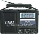FM/AM/SW1-9 11 bands radio cassette recorder