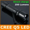 250 Lumen CREE Q5 LED Flashlight / LED Torch / Bicycle Light