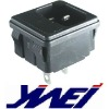 3 terminals with fuse holder black color power socket