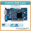 Linovision VEC-5208HFVI DVR Card, featured with full D1 recording and 1 channels matrix video output