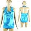 Fashion satin hanging neck vest