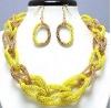 unique design hot sale necklace and earring sets