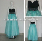 2012 Best Selling Empire Sweetheart Beaded Tulle Formal Prom Dresses