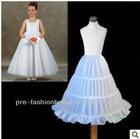 In stock three hoops crinoline petticoat flower girl
