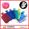Transparent PVC Hot Water Bottle BS Standard 2000ml