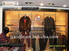 2011 hot design men clothing display for kiosk mall with LED