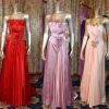 fashion strapless strech satin evening dress 295178