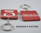 OEM printing logo on double side--rubber PVC keychain