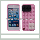 Lovely back cover for itouch 5 silicone case with block protector