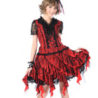 Gothic Multi Layered Lace & Mesh Skirt Red Punk GLP 81096