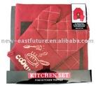 promotion apron kitchen set
