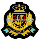 Embroidered customer design iron-on woven patch/badge