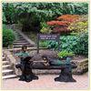 Bronze Garden Children Reading Statues