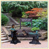 Bronze Garden Children Reading Statues
