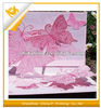 inner pop-up Valentine greeting card with butterflies