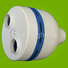 PBT cfl plastic cover for half spiral energy saving lamp